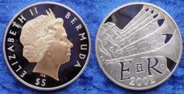 "BERMUDA - Silver 5 Dollars 2002 ""Queen's Golden Jubilee"" KM# 129 Elizabet II - Edelweiss Coins - Bermudes"