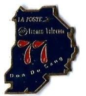 LA POSTE - LP43 -  LA POSTE/FRANCE TELECOM - DON DU SANG 77 - Verso : SM - Mail Services