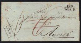 """""""124 LEER"""" NOIR - EMS ORIENTAL / 1811 LSC DEPARTEMENT CONQUIS POUR AURICH (ref 7678) - Marcophilie (Lettres)"""