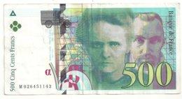 500 Francs 1994 état Ttb - 1992-2000 Dernière Gamme