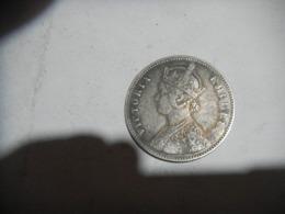 Moneta  Argento   VITTORIA  1 RUPIA INDIA - Inde