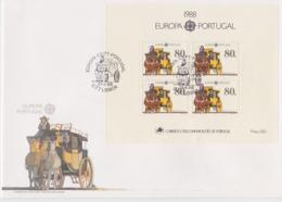 Portugal 1988 FDC Europa CEPT Souvenir Sheet (LAR8-62) - Europa-CEPT