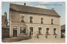 E120 Carte Postale Gouy-Saint-André Le Café De La Place Colorisé Pas De Calais - Francia