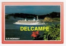 DF / BATEAUX / PAQUEBOTS / LE SS NORWAY EX-FRANCE / AU DOS CACHET DU SS NORWAY / 1988 - Dampfer