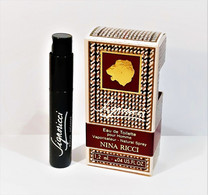 échantillons De Parfum  Tubes SIGNORICCI  De NINA RICCI   EDT 1.2  Ml - Campioncini Di Profumo (testers)