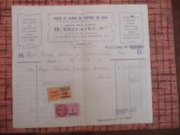 1950 Serviettes En Papiers Pour Restaurants Et Thés ( Rue Louis David Et Rue Marie Anne Colombier BAGNOLET - TIMBRE TAXE - Frankrijk