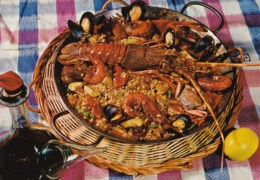 AL25 Spanish Cuisine - Paella - Ansichtskarten