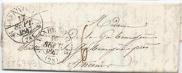 LT4743  Lettre Avec Courrier De Landivisiau, Finistère (28) Pour Amiens Du 16 Sept 1847, Taxé - 1801-1848: Precursors XIX