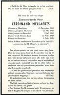 Dp. Pastoor Te Booischot. Mellaerts Ferdinand. ° Neerlinter 1884 † Booischot 1953 - Religión & Esoterismo
