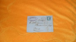 LETTRE ANCIENNE DE 1866../ GALICHET FILS METAUX & QUINCAILLERIE. CHALONS SUR MARNE POUR COUSANCES AUX FORGES. GC 844 + T - Postmark Collection (Covers)