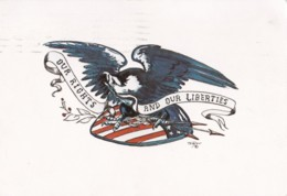 AO35 Patriotic - USA, Our Rights And Our Liberties - 1970's Postcard - Patriotic