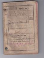 Livret Militaire Classe 1878 - Documents