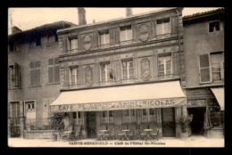 51 - SAINTE-MENEHOULD - CAFE DE L'HOTEL ST-NICOLAS - Francia