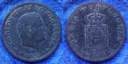 PORTUGUESE INDIA - 1/4 Tanga (15 Reis) MCMIII (1903) KM# 15 Carlos I (1889-1908) - Edelweiss Coins - India