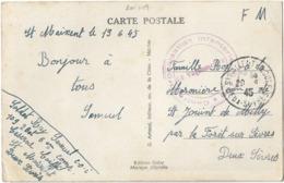 FRANCHISE FM ST MAIXENT DEUX SEVRES COI 109 1945 - Marcophilie (Lettres)