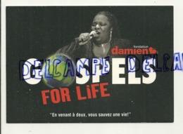 Publicité Pour Un Spectacle De Gospels Pour La Fondation Père Damien. Carte Boomerang - Musik Und Musikanten