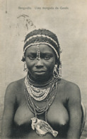 Benguella Uma Morgada Da Ganda . Close Up Nude Woman With Outstanding Jewelry , Pearls And Bird . P. Used - Angola