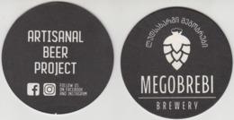 Georgia Coaster Of Beer, MEGOBREBI Bbrewery Unused RARE!!! - Beer Mats