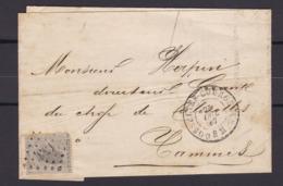 N° 17  / Lettre De GOSSELIES COURCELLES Vers Tamines   ( Lac ) - 1865-1866 Profil Gauche