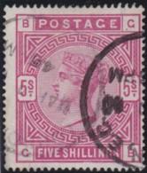 Great Britain  . Yvert .  87   (1883-84)  .  Ancre      .   O   .    Cancelled   .   /  .   Gebruikt - 1840-1901 (Viktoria)