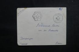 """FRANCE - Oblitération """" Porte Avion Arromanches """" En 1953 Sur Enveloppe En FM Pour Besançon Par Avion - L 47403 - Postmark Collection (Covers)"""