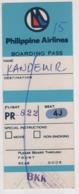 PHILIPPINE  AIRLINES BOARDING PASS - Instapkaart