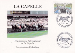 Hippodrome De La Capelle Oblitération 1er Jour Inauguration Anneau De Vitesse De 1990 - Reitsport