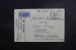 FRANCE - Enveloppe En FM D'un Soldat Français En Indochine Pour La Croix Rouge à Genève En 1947 - L 47404 - Postmark Collection (Covers)
