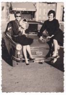 "AUTOMOBILE AUTOBIANCHI "" BIANCHINA "" - DONNE - CAR - FOTO ORIGINALE 1962 - Automobili"