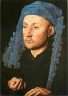 Art - Peinture - Jan Van Eyck - L'Homme Au Chaperon Bleu  - Carte Neuve - Voir Scans Recto-Verso - Schilderijen