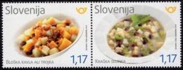 Slovenia - 2019 - Gastronomy - Bloska Kavla And Kraska Selinka - Mint Stamp Set - Slovenia