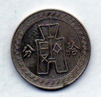 CHINA - REPUBLIC, 10 Cents, Nickel, Year 25 (1936), KM #349.1 - China