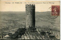 CPA -  TURENNE - VUE PANORAMIQUE PRISE DE LA  TOUR DE L'HORLOGE - Francia