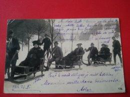 CARTE PHOTO SMICHOV SPORT D HIVER LUGE ENVOI VICOMTESSE  DE LAUZIERE CHATEAU D ARCENAY - Tchéquie