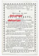 Bidprentje Julie Claeys Lichtervelde 1838 En Aldaar Overleden 1891 Viaene Doodsprentje - Imágenes Religiosas