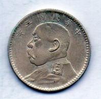 CHINA - REPUBLIC, 20 Cents, Silver, Year 3 (1914), KM #327 - China
