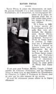 """1927 Xavier Privas Prince Des """"chansonniers""""né à Lyon En 1863 Promu Officier De La Légion D'Honneur TBE - Zonder Classificatie"""