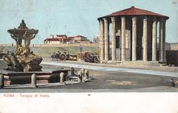 Cartolina Roma Tempio Di Vesta Timbro A Targhetta Roma Esposizione 1911 - Non Classificati
