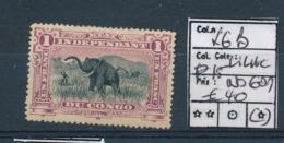 BELGIAN CONGO ELEPHANT LILAC COB 26B PERFORATION 15 NO GUM - Belgisch-Kongo