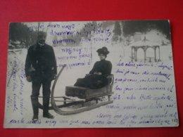 CARTE PHOTO SMICHOV SPORT D HIVER LUGE ENVOI VICOMTESSE LAUZIERE CHATEAU D ARCENAY - Tchéquie