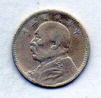 CHINA - REPUBLIC, 10 Cents, Silver, Year 3 (1914), KM #326 - China
