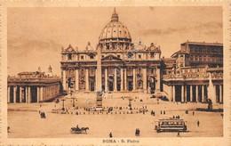 Cartolina Roma S. Pietro Bus Timbro A Targhetta Salsomaggiore 1927 - Non Classificati