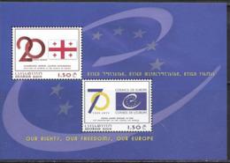 GEORGIA, 2019, MNH, COUNCIL OF EUROPE, SHEETLET - Organisations