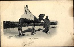 Cp Tunis Tunesien, Chausseurs, Reiter Auf Einem Kamel - Tunisie