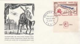 France FDC  Yvert 1422 Philatec Paris 5/6/1964 - FDC