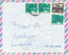Israel Air Mail Cover Sent To Denmark - Airmail