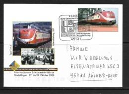 ALLEMAGNE 2006 ENTIER POSTAL TRAINS YVERT N°2385 - Trains