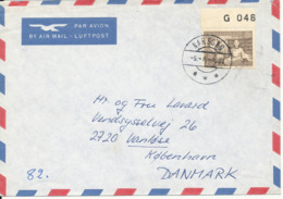 Greenland Air Mail Cover Sent To Denmark Narssaq 5-8-1987 Single Franked - Briefe U. Dokumente