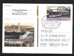 ALLEMAGNE 2006 ENTIER POSTAL TRAINS YVERT N°2383 - Trains