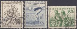 CECOSLOVACCHIA - 1954 - Serie Completa Di 3 Valori Usati: Yvert 765/767. - Usati